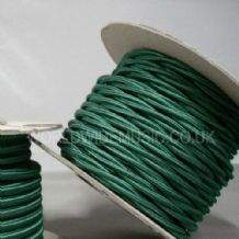 TWIST 2 Core Braided Fabric Cable Lighting Lamp Flex Vintage - FOREST GREEN